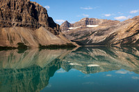 Bow Lake with Crowfoot Mountain Reflection