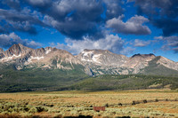 Sawtooth Mountains and Clouds