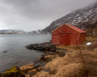 Black Cloud and Red Fishing Hut